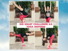 100 Squat Challenge Yoga Inspired - The 100 Squat Challenge Yoga Inspired  Get ready for the 100 squat challenge yoga inspired! You all loved the first two 100 squat challenges that I decided to do another one.  You will love this squat challenge because I have added yoga moves to the squats for a great focused and effective workout.