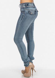 Butt Lifting Jeans with Rhinestone Waist   DENIM   Pinterest ...