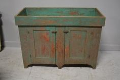 """Painted Pa. Dry Sink 36 1/2""""H, 50""""L, 19 3/4""""W"""
