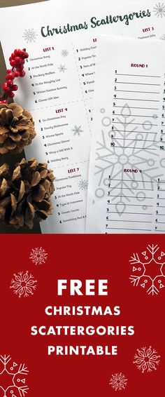 free christmas scattergories printable family fun game for christmas day christmas games
