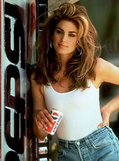 Cindy Crawford in the Pepsi commercial