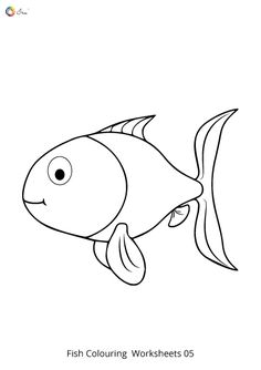 Free Downloadable Fish Worksheets for kids. Fish Coloring Page, Coloring Pages To Print, Colouring Pages, Coloring Sheets, Worksheets For Kids, Parenting, Names, Chart, Stickers