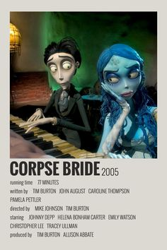 Alternative Minimalist Movie/Show Polaroid Poster - Corpse Bride - Pinnwand Iconic Movie Posters, Minimal Movie Posters, Minimal Poster, Movie Poster Art, Iconic Movies, Poster Wall, Poster Prints, Series Poster, Movie Collage