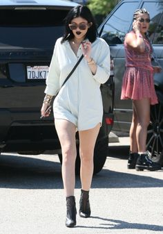August 22, 2014- Kylie Jenner out for lunch in West Hollywood.