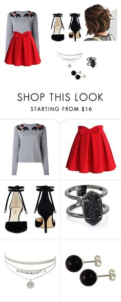 """""""untitled 1"""" by mikayla-payant ❤ liked on Polyvore featuring Dolce&Gabbana, Chicwish, Nine West and Kendra Scott"""