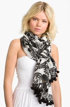 kate spade new york 'paisley grove' cotton & silk scarf available at Nordstrom