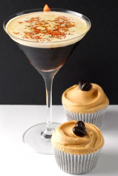 espresso martini's and espresso martini cupcakes drooooooool - http://cocktails.about.com/od/vodkadrinkrecipes/r/espreso_tini.htm
