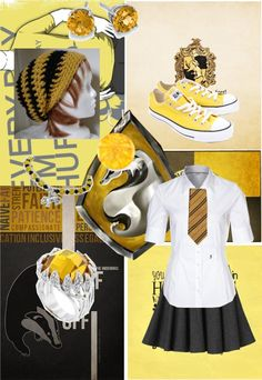 """Dedicated to the potterheads- Hufflepuff"" by lunastar210 ❤ liked on Polyvore"