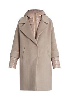 Soft Brush showerproof wool-blend coat | Herno | MATCHESFASHION.COM US