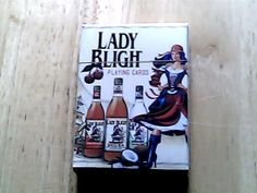 lady blight spiced rum playing cards sealed
