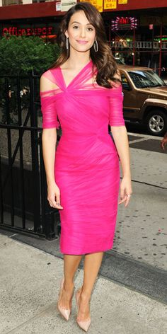 Look of the Day - August 6, 2012 - Emmy Rossum in Monique Lhuillier from #InStyle