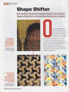 MC Escher Article - Tesselations