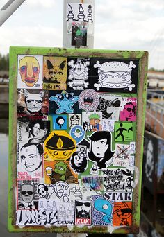 c15160156545c bulletin board with street tatoos Sticker Street Art