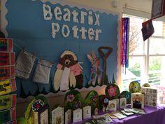 Beatrix Potter topic Class Displays, School Displays, Display Boards, Display Ideas, Potter School, Peter Rabbit, Beatrix Potter, Learning Activities, Baby Room