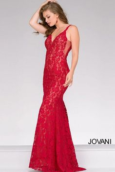 Wear a bold color for Prom 2017 like red #JOVANI #48994