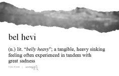 Wordstuck: bel hevi