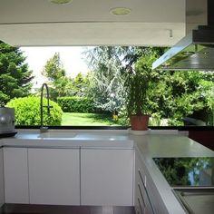 33 Most Noticeable Awesome Kitchen Window Design - homevignette Kitchen Room Design, Kitchen Cabinet Design, Modern Kitchen Design, Home Decor Kitchen, Interior Design Kitchen, Interior Modern, Kitchen Sink, Dream Home Design, House Design