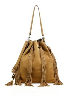 2d1653a788b7 LOEFFLER RANDALL Industry Fringe Suede Bucket Bag.  loefflerrandall  bags   lining  bucket  shoulder bags  suede  hand bags  cotton