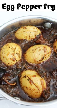 Easy and traditional south Indian spicy egg semi garvy recipe. Indian Egg Curry Recipe, Egg Recipes Indian, Egg Recipes For Kids, Indian Chicken Recipes, Fun Easy Recipes, Easy Indian Gravy Recipe, Fried Egg Recipes, Spicy Recipes, Curry Recipes