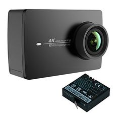 YI 4K Action Camera with Extra Battery Replacement Night Black ** Click image for more details.