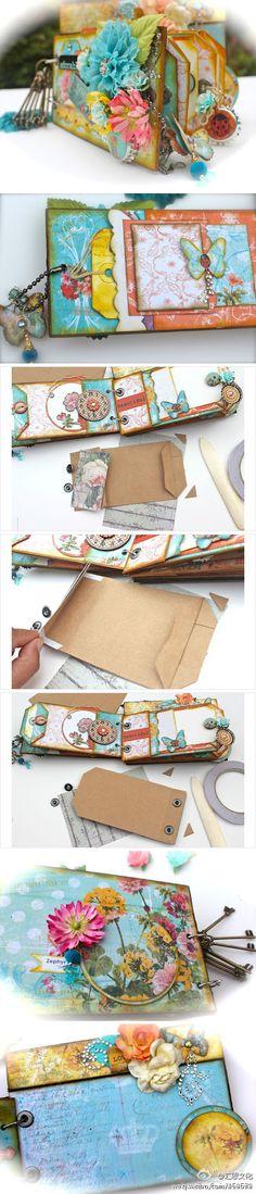 Vintage Diy Crafts Mini Albums 39 Ideas For 2019 Mini Album Scrapbook, Mini Albums Scrap, Scrapbook Journal, Scrapbook Cards, Paper Bag Books, Paper Bag Album, Paper Bags, Round Robin, Diy Crafts Vintage