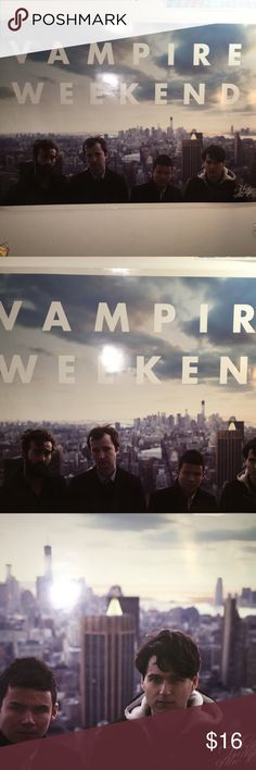 Vampire Weekend Poster large Vampire Weekend Poster from the Modern Vampires of The City tour. Has a small rip on one corner but it's barely noticeable. Price includes the box that I have to purchase in order to ship out the poster. Other