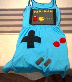 DIY Gameboy Dress: with Pac-Man