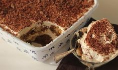 This tiramisu dessert is a great do-ahead recipe if you have a dinner party or need to take along a dessert to a barbecue. It has a strong coffee flavour that is complimented by a creamy mascarpone cheese topping. Easy Tiramisu Recipe, Tiramisu Dessert, Sweet Recipes, Cake Recipes, Dessert Recipes, No Bake Desserts, Easy Desserts, Delicious Desserts, Chocolate Cheese