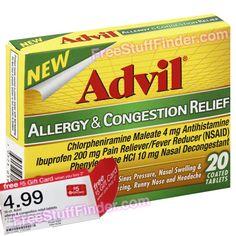 Free Advil Allergy Tablets at Target + Moneymaker