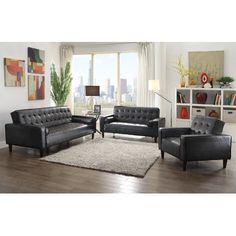 Derek Faux Leather Sleeper Sofa