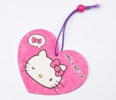Hello Kitty Paper Air Freshener: Bow Message