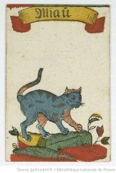 """[Vogelspiel, jeu de cartes allemand connu sous le nom de """"jeu de coucou""""] : [jeu de cartes, estampe] Date d'édition : 1700-1799 Type : image fixe Format : 1 jeu de 32 cartes : gravure sur bois coloriée au pochoir ; 8,6 x 5,7 cm Format : image/jpeg Droits : domaine public Identifiant : ark:/12148/btv1b10336517x"""