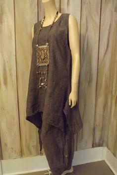 RESERVED for Janet Lagenlook Custom Sand Washed Linen Long