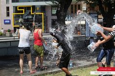 Vardavar (water festival) in Armenia is one big, city-wide water fight!