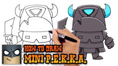 How to Draw Mini P.E.K.K.A. (Clash Royale)- How to Draw Cartoons