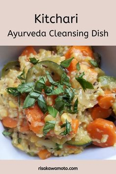 Kitchari is a traditional Ayurvedic dish which is very easy to digest but nourishing and purifying. Find out how Ayurveda can help cleanse your digestive system. Easy Healthy Recipes, Lunch Recipes, Diet Recipes, Vegetarian Recipes, Cooking Recipes, Diet Meals, Yummy Recipes, Ayurvedic Diet, Kitchen