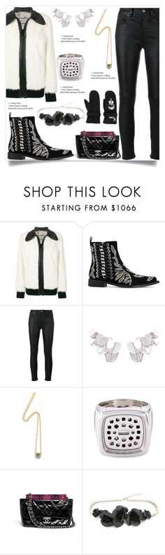 """""""Wolf Bomber Jacket in WHITE"""" by camry-brynn ❤ liked on Polyvore featuring Gucci, Alexander McQueen, Yves Saint Laurent, Carolina Bucci, Chanel, Elie Saab, white, bomberjacket, jacket and farfetch"""