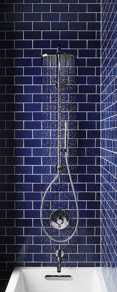 Blue Subway Tile Bathroom From Kohler