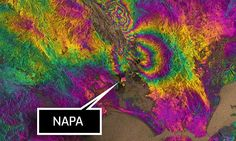 Psychedelic image reveals just how big the Napa earthquake really was