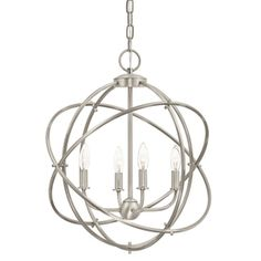 Kichler Lighting 4 Light Brushed Nickel Chandelier Lowes 129 Foyer