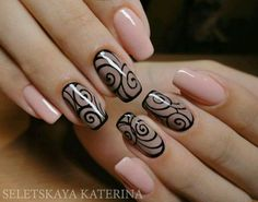 Looking for new nail art ideas for your short nails recently? These are awesome designs you can realistically accomplish–or at least ideas you can modify for your own nails! Fabulous Nails, Gorgeous Nails, Pretty Nails, Lace Nail Art, Lace Nails, Beige Nails, Nail Art Design Gallery, Best Nail Art Designs, Awesome Designs