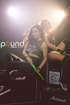 The Pound series ain't your mama's home-workout routine. This online version of a popular fitness class at Crunch gyms involves constant simulated drumming with lightly weighted drumsticks.