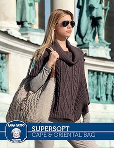 SuperSoft - Cape & Oriental Bag pattern by Lana Gatto