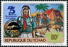 1983 world jamboree scouts postage stems *koweit*