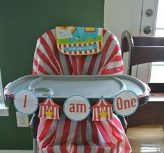 Instant Download Printable Circus I am One High Chair Banner by PinkPoppyPartyShoppe