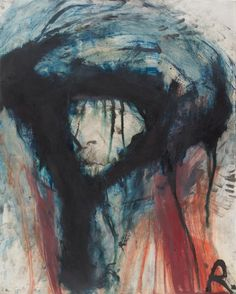 Arnulf Rainer (Austrian, b. 1929), Van Gogh im Winterpelz [Van Gogh in winter fur], 1977. Oil and ink on photograph.