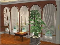 Vorhang für Bogenfenster