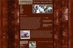 Wildwind Farms, rustic web design, browns, tans, wood