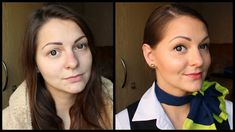 Cabin Crew Haare und Make-up Flight Attendant Hair, Become A Flight Attendant, Airline Attendant, Airline Jobs, Interview Hairstyles, Ways To Tie Scarves, Crew Hair, Makeup Face Charts, Beauty 101