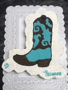 Cowboy boot cupcake cake Pull Apart Cupcake Cake, Pull Apart Cake, Cupcake Cakes, Western Cakes, Western Theme, Cowboy Baby Shower, Baby Boy Shower, 10th Birthday Parties, Birthday Cakes